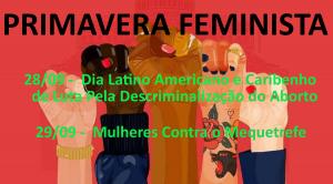 Primavera Feminista - Setembro 2018