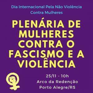 Dia Internacional da Não Violência Contra à Mulher - 25 de Novembro