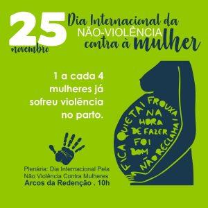 Dia Internacional da Não Violência Contra à Mulher - [Sobre a Violência Obstétrica]