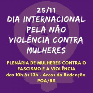 Dia de Combate à Violência Contra à mulher - 25 de Novembro