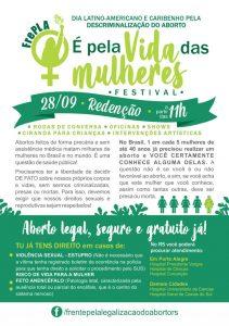 Festival É Pela Vida das Mulheres - Panfleto