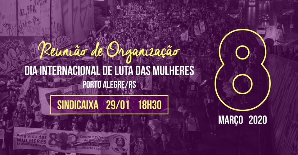 Reuinião Organizativa do 8 de Março - 29.01.20