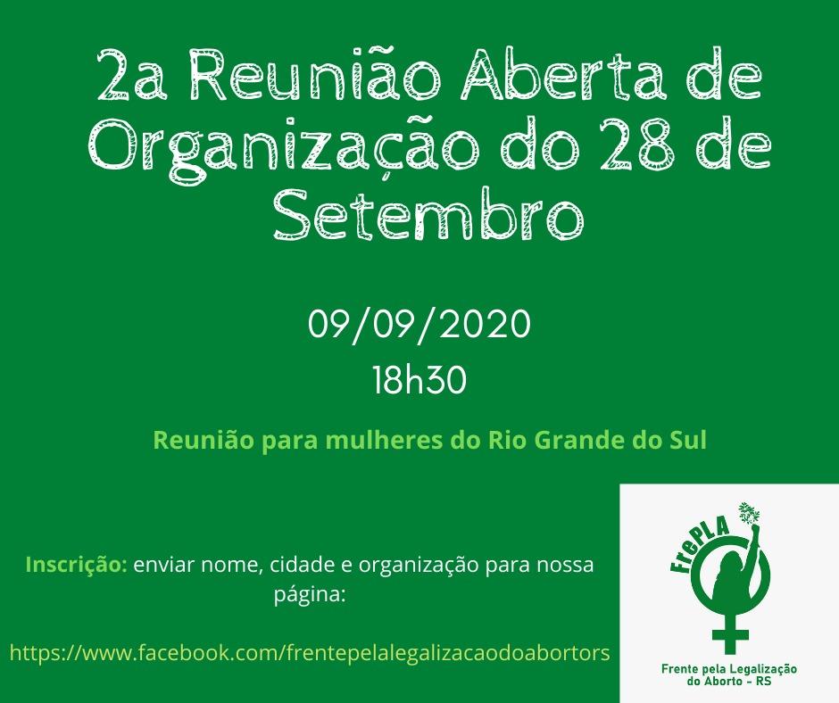 2ª Reunião Organizativa do Dia Latino Americano e Caribenho Pela Descriminalização do Aborto