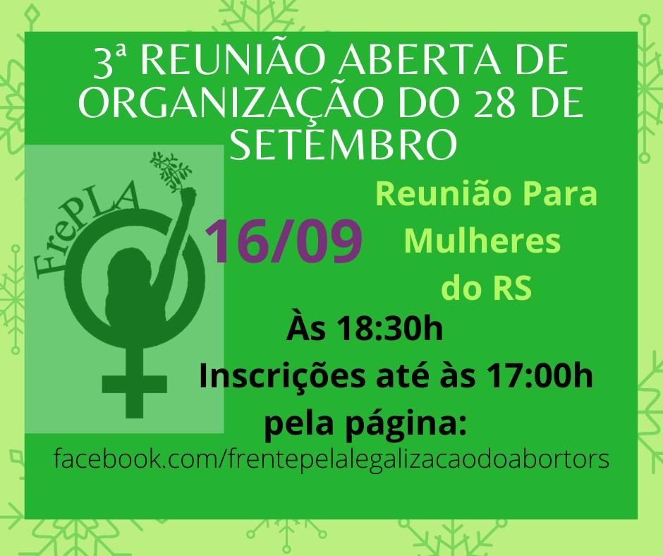 3ª Reunião organizativa do dia Latino-americano e Caribenho Pela Descriminalização do Aborto